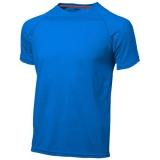Slazenger Męski T-shirt Serve z krótkim rękawem z tkaniny Cool Fit odprowadzającej wilgoć (33019421)