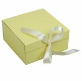 Składane pudełko na prezenty, beżowy z nadrukiem (R22906)