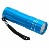 9-diodowa latarka Jewel LED, jasnoniebieski z logo (R35665.28)