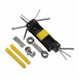 Zestaw narzędzi do roweru Bike Prep, czarny/żółty z logo (R17684.03)