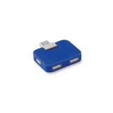 SQUARE Hub USB 4 porty z logo (MO8930-37)