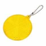 Światełko odblaskowe Circle Reflect, żółty z logo (R73163.03)
