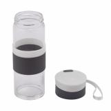 Szklana butelka Top Form 440 ml, biały z logo (R08290.06)