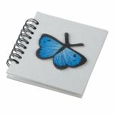 Notes Farfalla, szary z logo (R73823)