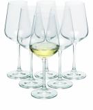 Zestaw 6 kieliszków do białego wina MORETON 6, 250 ml z logo (H1300300ZH166)