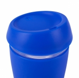 Szklany kubek Stylish 350 ml, niebieski z logo (R08278.04)