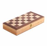Drewniane szachy, brązowy z logo (R08854.10)
