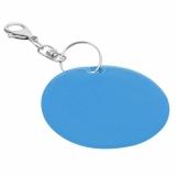 Brelok odblaskowy Reflect, niebieski z nadrukiem (R73251.04)