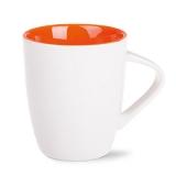 Kubek JOY 250 ml Royal White / pomarańczowy (M008_AD_B0250_0)
