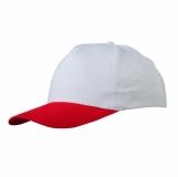 Czapka z daszkiem Coimbra, biały/czerwony z logo (R08720.68)
