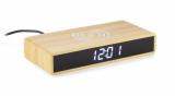 Zegar na biurko z ładowarką indukcyjną INDUCTO brązowy (03092)