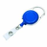 Ski-pass z karabińczykiem, niebieski/srebrny z logo (R08005.04)