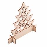 Drewniana wycinanka choinka Christmas tree, beżowy  (X91024.13)