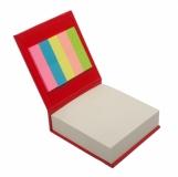 Blok z karteczkami, czerwony z logo (R73674.08)
