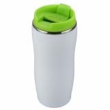 Kubek izotermiczny Astana 350 ml, zielony/biały z logo (R08325.05)