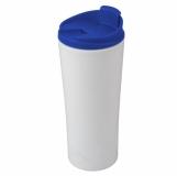 Kubek izotermiczny Tampa Bay 450 ml, niebieski/biały z nadrukiem (R08338.04)