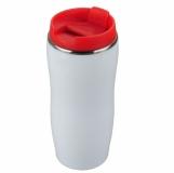 Kubek izotermiczny Astana 350 ml, czerwony/biały z nadrukiem (R08325.08)