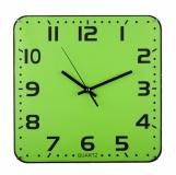 Zegar ścienny Cuadrado, zielony z logo (R64397.05)