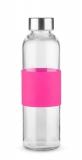 Butelka szklana GLASSI 520 ml różowy (16207-21)