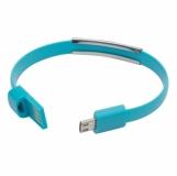 Kabel USB Bracelet, jasnoniebieski z logo (R50189.28)