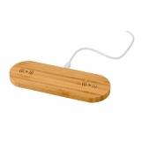Bambusowa ładowarka bezprzewodowa 5W (V0138-17)