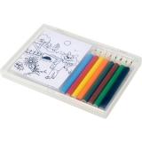 Zestaw do rysowania, kredki i kolorowanki (V7842-00)