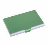 Wizytownik Color Lid, zielony/srebrny z logo (R01057.05)