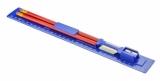 Linijka 30 cm z ołówkami, gumką i temperówką - niebieska (20070-03)