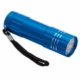 9-diodowa latarka Jewel LED, lazurowy z logo (R35665.29)