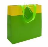 Torba na prezenty, zielony/żółty z logo (R22987.05)