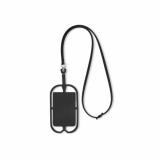 SILIHANGER Silikonowy uchwyt na smartfona z logo (MO8898-03)