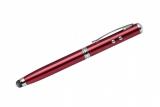 Długopis touch QUATRO z latarką i wskaźnikiem laserowym czerwony (19447-04)