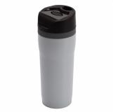 Kubek izotermiczny Winnipeg 350 ml, szary/czarny z logo (R08394.21)