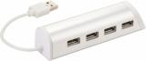 AVENUE Aluminiowy 4-portowy hub USB i podstawka na telefon Power (12372401)