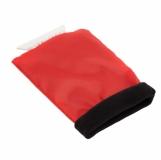 Skrobaczka do szyb z rękawicą, czerwony z nadrukiem (R17782.08)