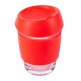 Szklany kubek Stylish 350 ml, czerwony  (R08278.08)