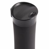 Kubek izotermiczny Montreal 535 ml, czerwony/czarny z grawerem (R08334.08)