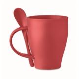 FRIDAY Kubek z łyżeczką, 300 ml z logo (MO6255-05)