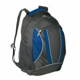 Plecak sportowy El Paso, niebieski/czarny z nadrukiem (R08659.04)