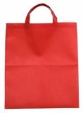 Torba eko na zakupy, czerwony z logo (R08456.08)