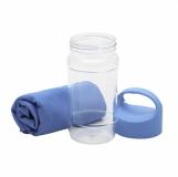 Ręcznik chłodzący w butelce Feel Like New, niebieski z logo (R07982.04)