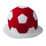 Kapelusz kibica, czerwony/biały z logo (R08776.08)