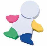 Zakreślacz - ludzik - 4 kolory z logo (2886606)