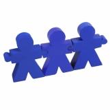 Antystresowy zestaw People, niebieski z nadrukiem (R73937.04)