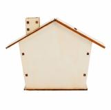 Drewniana skarbonka Housy, beżowy z logo (R91023.13)