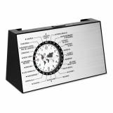 SPINNING Obrotowy zegar biurkowy z logo (MO8558-16)