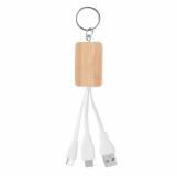 CLAUER Bambusowy kabel 3 w 1  (MO9888-40)