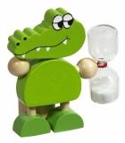 Stojak na szczoteczkę do zębów Croco, zielony z logo (R73967)