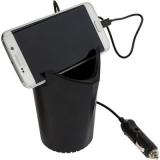 Ładowarka samochodowa do uchwytu na napoje, uchwyt do telefonu (V3784-03)