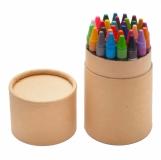 Zestaw 30 kredek woskowych w tubie, beżowy z logo (R73767.13)